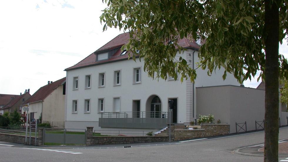 rénovation et extension de l'ancien presbytère